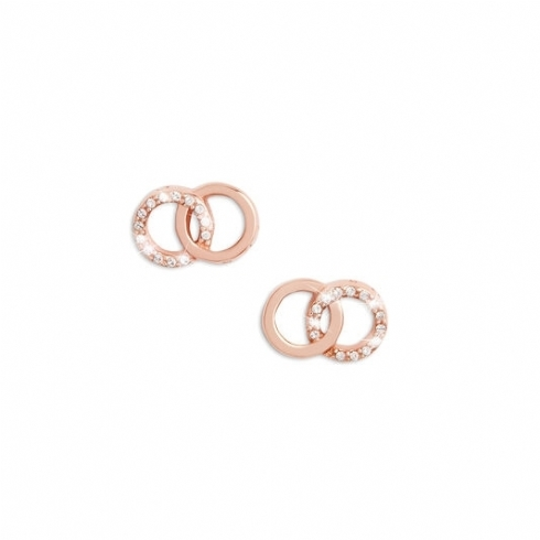 Olivia Burton Bejewelled Interlink Stud Earrings OBJCOE75