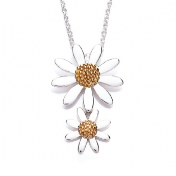 Daisy x2 Graduated Daisies Necklace