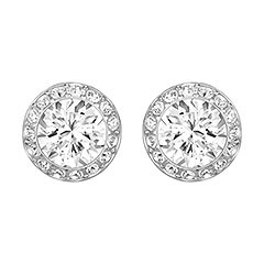 Swarovski Angelic Silver Stud Earrings