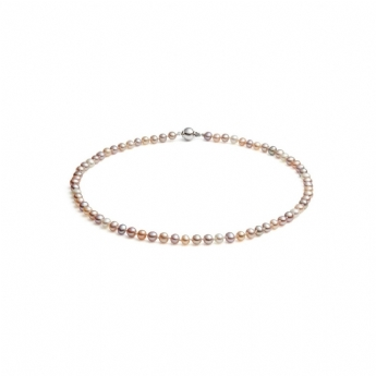 "Jersey Pearl Multicoloured Freshwater Cultured Row 16"" Necklace"