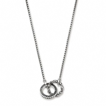 Thomas Sabo Eternal Rebel Skull and Pave Link Necklace