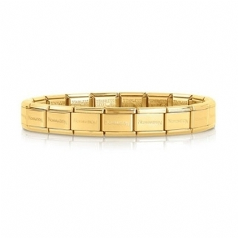 Nomination Yellow Gold Plated Charm Link Bracelet 030001/18/GPL