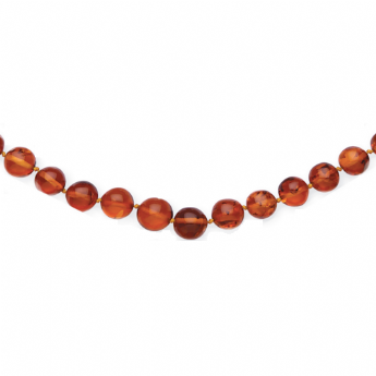 "Amber Graduated 26"" Beaded Necklet"
