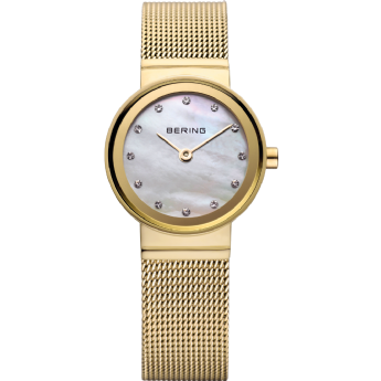 Bering Ladies Gold Colour Watch with CZ Dial