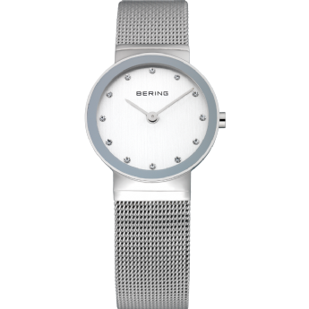 Bering Ladies Stainless Steel CZ Dial Watch