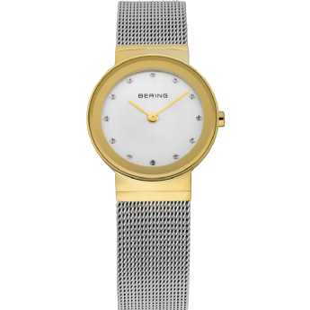 Bering Ladies Two Tone CZ Dial Watch