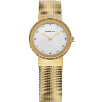 Bering Ladies Gold Tone CZ Dial Watch