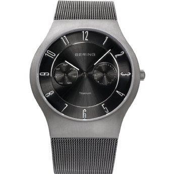Bering Titanium Case Stainless Steel Strap Watch