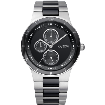 Bering Gents Stainless Steel and Black Ceramic Chronograph Watch