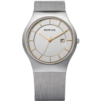 Bering Ladies Stainless Steel and Gold Tone Batons Watch