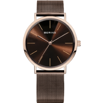 Bering Brown Stainless Steel Chocolate Dial Watch