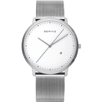 Bering Stainless Steel Large Face Date on Dial Watch