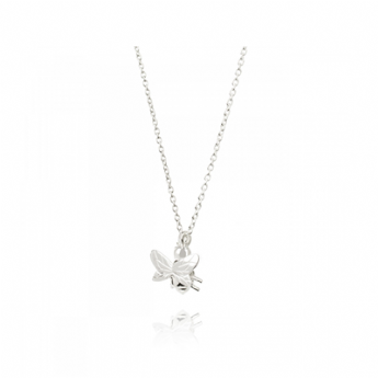 Daisy London Sterling Silver Bee Natures Way Necklace