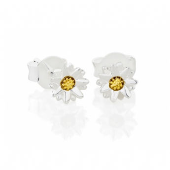 Daisy London Sterling Silver Star Daisy Stud Earrings