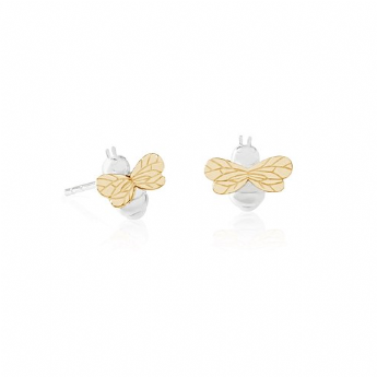 Daisy London Sterling Silver Bee Natures Way Stud Earrings