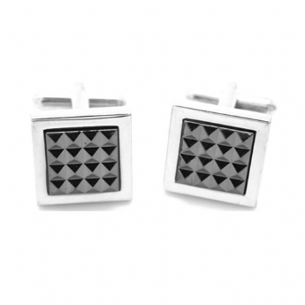 Jos Von Arx Stainess Steel Grey Square Cufflinks