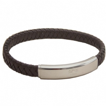 Jos Von Arx Brown Braided Adjustable Leather Bracelet