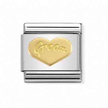 Nomination Groom Heart Charm Link