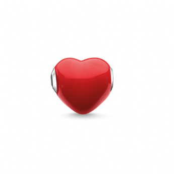 Thomas Sabo Red Glass Heart Bead