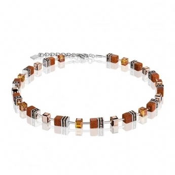 Coeur De Lion Burnt Amber Glitter Necklace