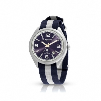 Nomination Cruise Blue/White Fabric Watch