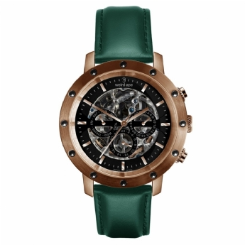 Weird Ape Icarus Black and Rose Tone Watch with Dark Teal Strap