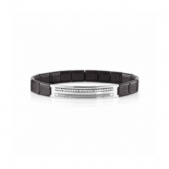 Nomination Stainless Steel Black PVD Plated Cable Trendsetter Bracelet 021130/028