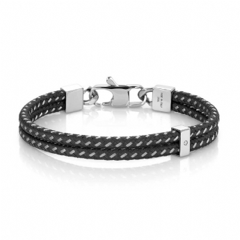 Nomination Tribe Double Black Bracelet with Cubic Zirconia 026431/001