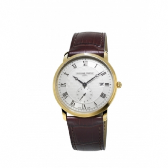 Frederique Constant Gent's Gold Vermeil Watch with Leather Strap FC-245M5S5