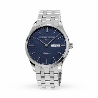 Frederique Constant Gent's Stainless Steel Bracelet Watch with Navy Dial FC-225NT5B6B