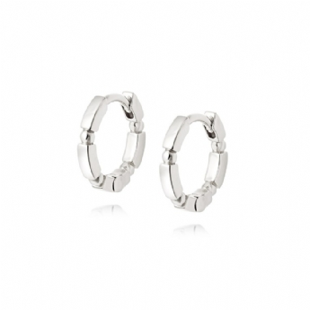 Daisy London Silver Stacked Huggie Hoops