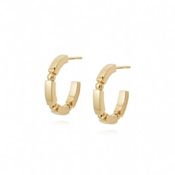 Daisy London 18ct Gold Plated Stacked Midi Chunky Hoops