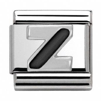 Nomination Black and Silver Initial Z