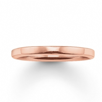 Thomas Sabo Rose Gold Plated Band Ring Size 56
