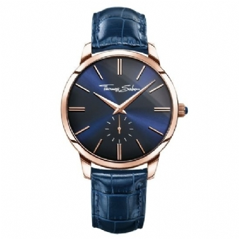 Thomas Sabo Rose Gold Plated Navy Strap and Dial Watch