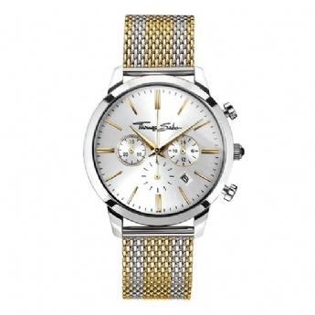 Thomas Sabo Stainless Steel and Yellow Plated Stripe Chronograph Bracelet Watch