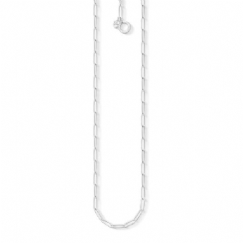 Thomas Sabo Sterling Silver Oblong Chain Necklace 45cm