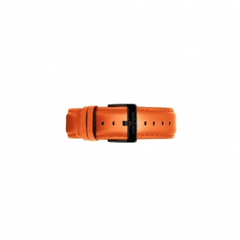Weird Ape 20mm Orange Leather Watch Strap Only with Black Buckle ST01-000083