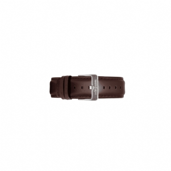 Weird Ape 20mm Dark Brown Leather Watch Strap Only with Stainless Steel Buckle ST01-000098