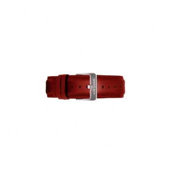 Weird Ape 20mm Red Leather Watch Strap Only with Stainless Steel Buckle ST01-000105