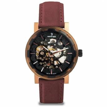 Weird Ape Kolt Rose Gold Plated Case and Ox Blood Strap WA02-005542
