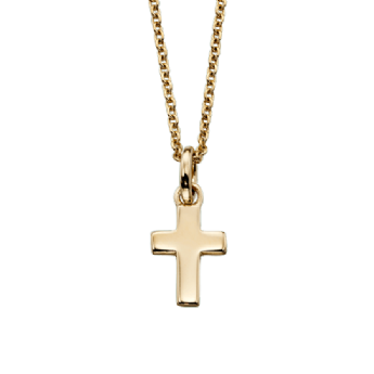 Little Star Knox Yellow Gold Plated Cross and Chain LSN0035