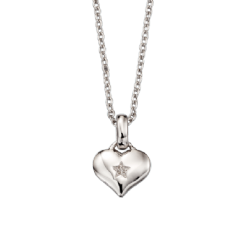 Little Star Bella Diamond Heart Necklace and Chain LSN0010