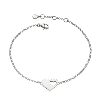 Little Star 'Mummy and Me' Poppy Cut Out Heart Bracelet LSB0061