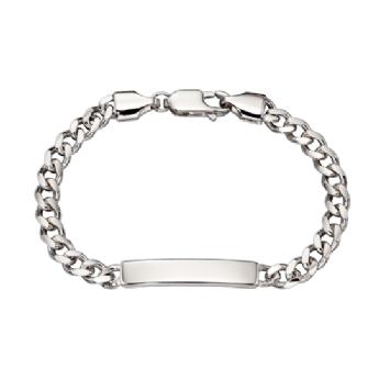Little Star Bailey Silver Curb ID Bracelet LSB0043