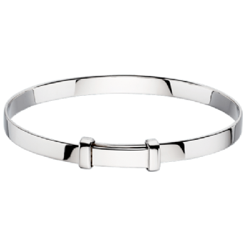 Little Star Cote Plain Silver Baby Expander Bangle LSB0001
