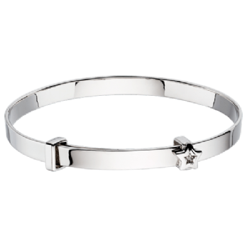 Little Star Inez Star and Diamond Expander Baby Bangle LSB0006