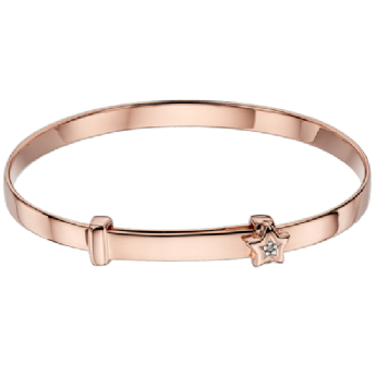 Little Star Gracie Rose Gold Plated Expander Baby Bangle LSB0102
