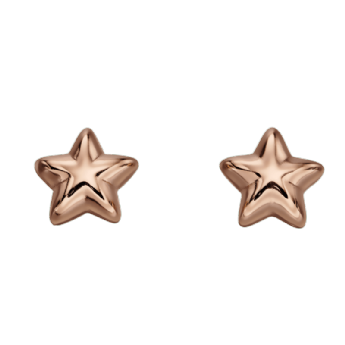 Little Star Amelia Rose Plated Star Studs LSE0150