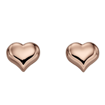 Little Star Emily Rose Plated Heart Studs LSE0151